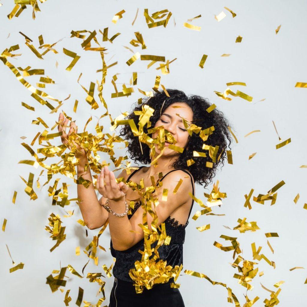 a winner celebrates